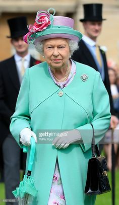 Queen Elizabeth II attends a garden party at Buckingham Palace on May 19, 2016 in London, England.