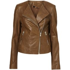 Collarless Soft Leather Biker Jacket and other apparel, accessories and trends. Browse and shop 21 related looks.