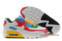 new concept 9667b e0f9f Womens Nike Air Max 90 Shoes White Red Blue Green Yellow,nike Free Trail, nike Clearance Store Near Me,low Price Best