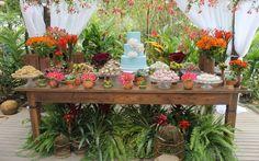 Mesa do bolo criada por Vera Mendes e Alessandra Tonisi