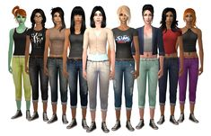 Added morphs to MDP's Boyfriend Jean for added pregmorph to separated Dori Jacket ages ago, and I figured out I should share it (because it's one of my. Camo Bikini, Bright Color Schemes, Sims Hair, Sims 4 Custom Content, Sims 2, Boyfriend Jeans, Capri Pants, Female, Bikinis
