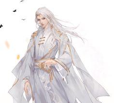 微博 Character Inspiration, Character Art, Character Design, Silver Haired Beauties, Male Cosplay, China Art, Bishounen, Boy Art, Anime Style