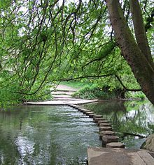 The stepping stones at Box Hill, Surrey