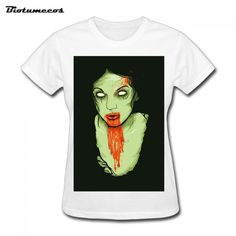 $17.55 Brand t-shirt Blood Green Zombie Women Fashion Short Sleeve 100% Pure Cotton Funny t shirts 2017 Summer Top Tees WTSS021
