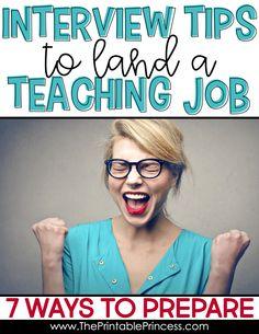 Interview Tips For Teachers, Teacher Interview Outfit, Teacher Interview Questions, Teacher Interviews, Jobs For Teachers, Job Interview Tips, Interview Preparation, Interview Outfits, Teaching Resume