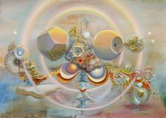 Mental and Material Realms - Mario Martinez (aka Mars-1) Paintings >>> Microcosms Of Mental and Material Realms