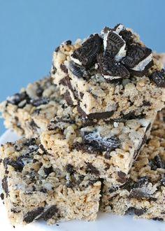 Cookies and Cream Rice Krispies Treats » Glorious Treats