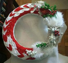 """The """"Be A Deer & Pass Me My Fiddle"""" wreath by Sabrina Bess LMW"""