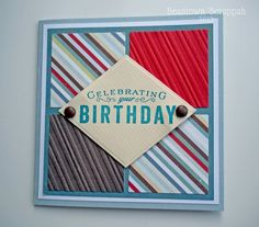 Like the color combo Birthday Cards For Friends, Masculine Cards, Creative Cards, Greeting Cards Handmade, I Card, Card Ideas, Card Making, Diy Projects, Paper Crafts