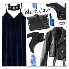 """""""Dress to Impress: Blind Date"""" by paculi ❤ liked on Polyvore featuring In Your Dreams, Jean-Paul Gaultier, Urban Expressions, Estée Lauder, blinddate, yoins, yoinscollection and loveyoins"""