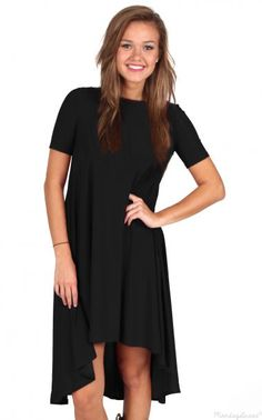 Kick The Dust Up Black High Low Dress