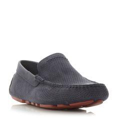 UGG Henrick leather driver shoes, Navy