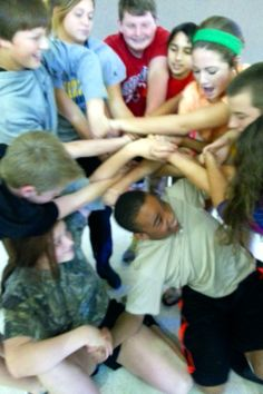Day 286: Human knots in youth tonight.