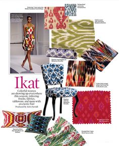From the runway to your home, Ikat looks great in small doses!  Love me some of this for pillows, shams, even drapes! I'm now painting this Ikat pattern on lamp shades and loving the look-a great way to add pattern in any space!