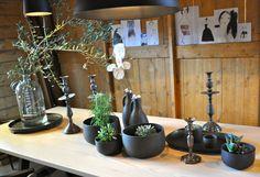 Tafel met planten VTWonen Barn Woonbeurs