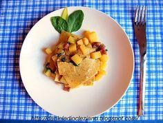 Daniela&Diocleziano: Blecs con pitina di cinghiale, patate novelle e spinacino.