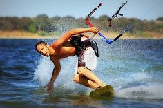 Image by TexasEagle While kiteboarding on Lake Grapevine on Labor Day, Jeremy came very close to the shore and gave the camera a cool pose.