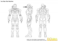 Iron Man War Machine  blueprint model sheet Character Reference Sheet, Character Model Sheet, Character Modeling, Drawing Reference, Character Concept, Concept Art, Character Design, Blender 3d, Character Turnaround