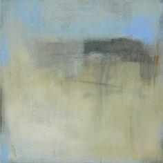 Contemporain abstrait paysage peinture - 24 x 24 West Elm vedette artiste, Pottery Barn, peinture minimaliste, décor de mur côtier, haut de gamme