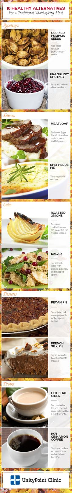 Having a healthy Thanksgiving meal is easy with these healthy alternatives from UnityPoint Clinic!
