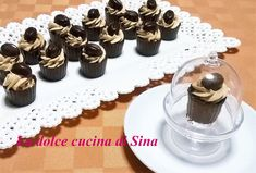 Bicchierini di cioccolato con golosa crema al caffè