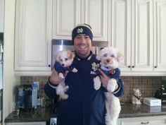 Stanley & Crosby in their Notre Dame Jerseys! Notre Dame, Boys, Animals, Baby Boys, Animais, Children, Animales, Animaux, Animal