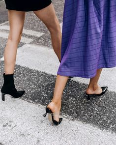 Now's the weather to wear all kinds of shoes. Kinds Of Shoes, Put On, Kitten Heels, Weather, Street Style, Skirt Fashion, Boots, Skirts, How To Wear