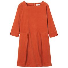 Buy Toast Fine Cord Tunic Dress, Golden Ochre Online at johnlewis.com