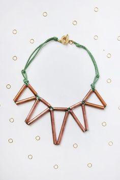 Geometric copper necklace DIY