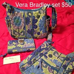 Vera Bradley set Doodle Daisy on the go and wallet. *crossbody is sold* Vera Bradley Bags Crossbody Bags