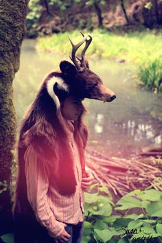 ⋆ Antlered Bear Headdress by NaturePunk ⋆ ((don't like taxidermy, then don't look! Simple!)) ⋆