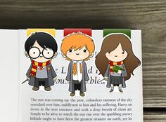 Harry, Ron, and Hermione are here and ready to keep the pages of your book (or planner) safe from He-Who-Must-Not-Be-Named.  Add Loony Luna Lovegood -