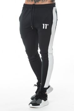 Poly Panel Track Pant - Black #11degrees