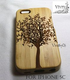 Natural wood iPhone 5c case iphone 5c case Bamboo by VIVIDbyCh, $20.50