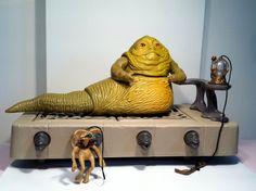 Vintage Jabba The Hut Playset - 1983. $70.00, via Etsy.