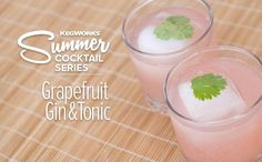 Summer Cocktail Series: Grapefruit Gin and Tonic – Cocktails Rezepte Tonic Cocktails, Gin Cocktail Recipes, Spring Cocktails, Refreshing Cocktails, Cocktail Drinks, Alcoholic Drinks, Grapefruit Gin And Tonic, Blackberry Whiskey, Gin Und Tonic