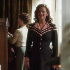 Hayley Atwell Peggy Carter, Haley Atwell, Peggy Carter Costume, Look Thinner, Sailor Dress, Celebs, Celebrities, Our Lady, Partner