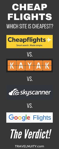 Which travel search engine has the cheapest flights out of Cheapflights, Kayak, Skyscanner and Google Flights? Which site comes out on top across three holiday routes?