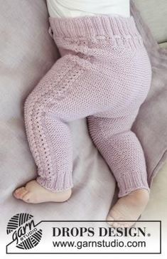 Hello Kitten / DROPS Baby – Set consisting of: Garter stitch and wave stitch baby knit hat with ear flaps. Moss stitch and lace pattern wrap. Garter stitch and openwork pants. The piece is worked in DROPS Baby Merino. Baby Knitting Patterns, Knitting For Kids, Baby Patterns, Free Knitting, Crochet Patterns, Shirt Patterns, Knitting Stitches, Dress Patterns, Stitch Patterns