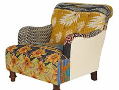 Sophisticated Junk Pile: China Cabinet -colors inspired by kantha blanket arm chairs-