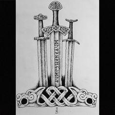 for Milos… – Norse Mythology-Vikings-Tattoo Norse Runes, Viking Symbols, Viking Art, Viking Runes, Norse Mythology, Mayan Symbols, Egyptian Symbols, Ancient Symbols, Fenrir Tattoo