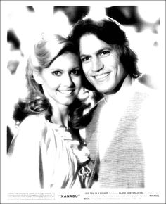 Olivia Newton-John as 'Kira' & Michael Beck as 'Sonny Malone' in Xanadu 1980's Movies, Good Movies, Movie Tv, Michael Beck, Olivia Newton John, My Childhood Memories, Dream Guy, Knights, Movies And Tv Shows