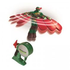 6-inch TMNT figures with foam wings and a launcher with launch cord.