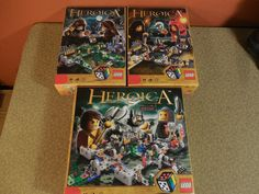 3 Lego HEROICA Sets 3858 3859 Nathuz 3860 Fortaan