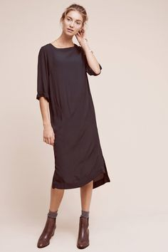midi dress in black
