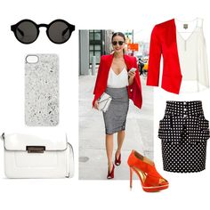 A fashion look from July 2014 featuring v-neck shirts, pocket skirt and strap sandals. Browse and shop related looks. Shoe Bag, Polyvore, Stuff To Buy, Shopping, Collection, Design, Women, Style, Fashion