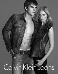 nice Lara Stone e Matthew Terry por Lachlan Bailey para Calvin Klein Jeans Fall 2014 [Campaign]