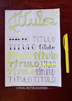 Trabalho Bullet Journal School, Bullet Journal Font, Journal Fonts, Bullet Journal Ideas Pages, My Journal, Bullet Journal Inspiration, Lettering Tutorial, Stabilo Boss, Decorate Notebook