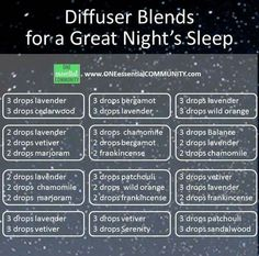 Diffuser Blends for a Great Night's Sleep