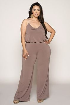 Plus Size Jumpsuit - Plus Size Fashion for Women Plus Size Fashion For Women, Plus Size Womens Clothing, Plus Fashion, Womens Fashion, Size Clothing, Flax Clothing, Cheap Fashion, Petite Outfits, Plus Size Outfits